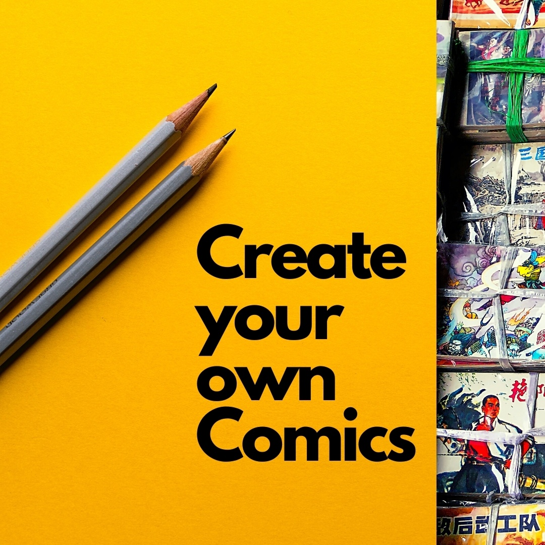 Pens and Comics for Creative Arts Workshops and Online Classes
